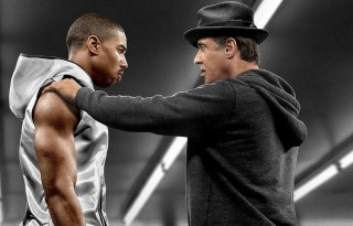 "Rocky Balboa (Sylvester Stallone) and Adonis Creed (Michael B. Jordan) in ""Creed."""