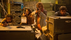 Armie Hammer (right) takes cover in Free Fire