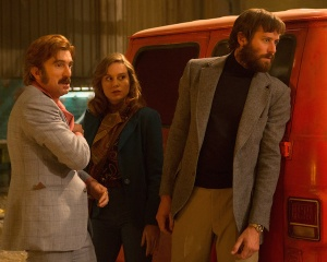 Armie Hammer, Brie Larson and Sharlto Copley in Free Fire