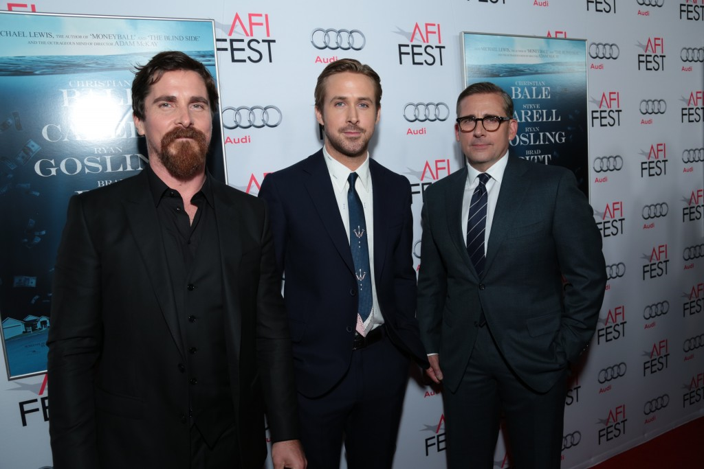 Christian Bale, Ryan Gosling, Steve Carell