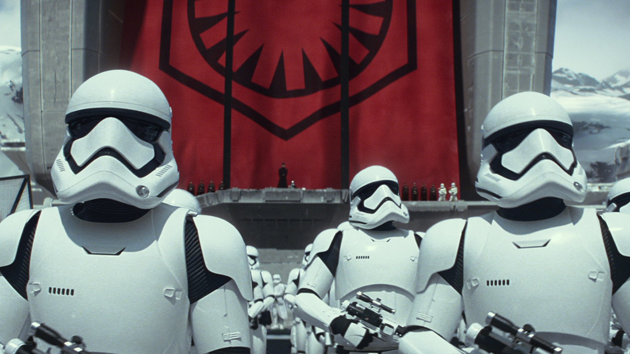 "The First Order Stormtroopers in ""Star Wars: The Force Awakens"""