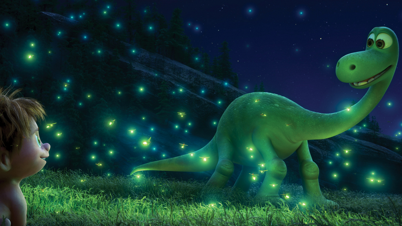 "Arlo and Spot in ""The Good Dinosaur"""