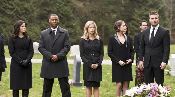 Arrow canary cry funeral