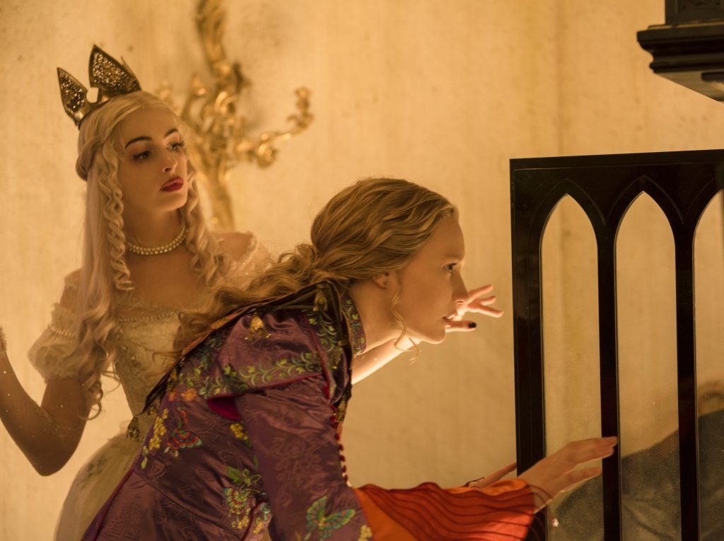Anne Hathaway is the White Queen and Mia Wasikowska is Alice in Disney's ALICE THROUGH THE LOOKING GLASS, an all new adventure featuring the unforgettable characters from Lewis Carroll's beloved stories.