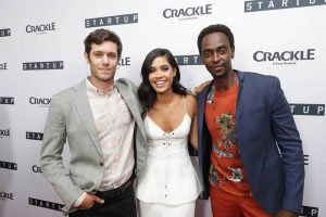 Adam Brody, Otmara Marrero and Edi Gathegi at the premiere of StartUp
