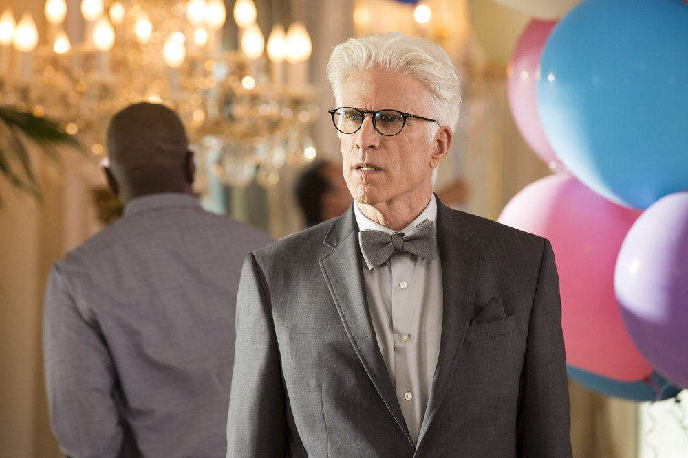 "THE GOOD PLACE -- ""The Eternal Shriek"" Episode 106 -- Pictured: Ted Danson as Michael -- (Photo by: Justin Lubin/NBC)"